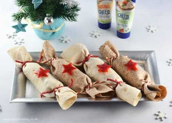 Easy Christmas Cracker Festive Turkey Fajitas - mild kid friendly recipe - perfect fun food for Christmas and New Years Eve dinner parties - Eats Amazing UK