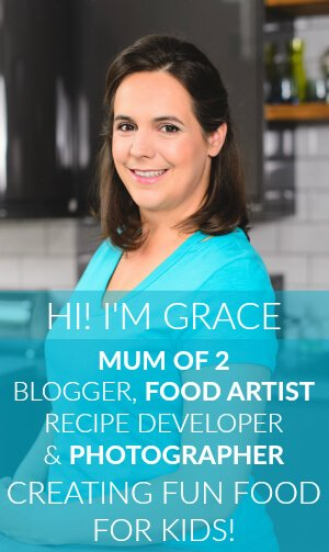 Hi! I'm Grace, Mum of 2, blogger, food artist, recipe developer & photographer, creating fun food for kids!