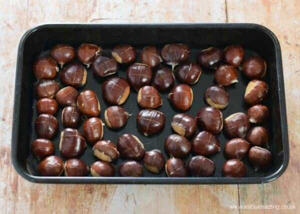 How to cook chestnuts - everything you need to know about picking and roasting chestnuts - Autumn foraging with kids - Eats Amazing UK