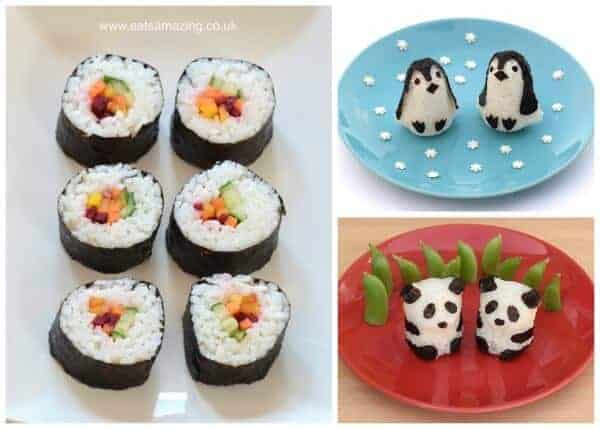 How to make a bento - what foods to pack - sushi and rice balls are traditional bento box foods