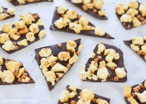 toffee apple popcorn chocolate bark recipe
