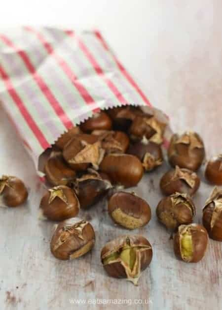 How to roast chestnuts - everything you need to know about picking and roasting sweet chestnuts - foraging with kids - Eats Amazing UK