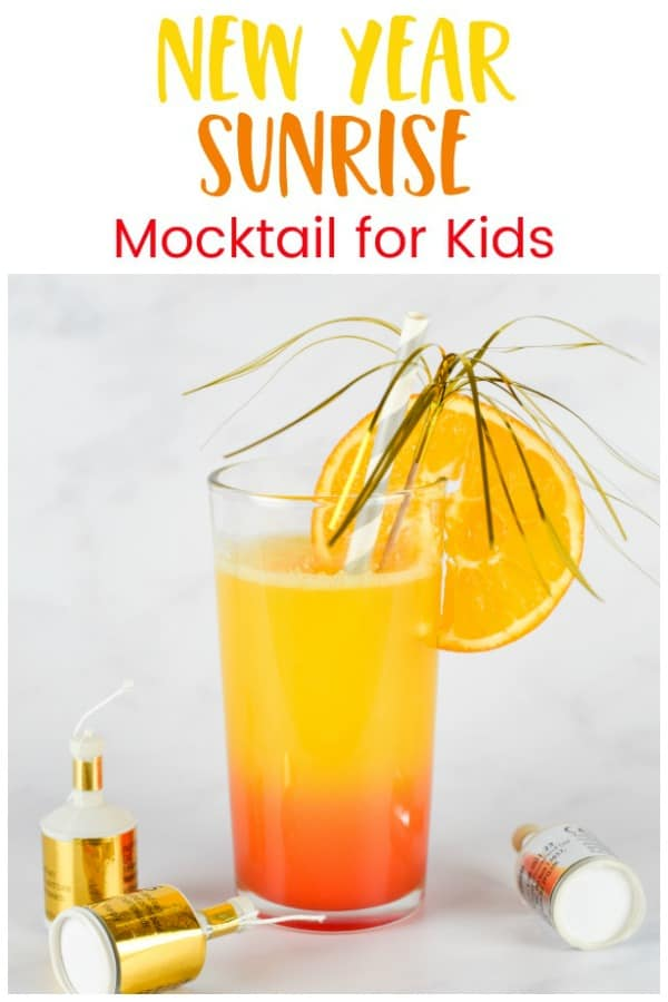 3 ingredient alcohol free easy mocktail for kids - perfect for New Years Eve and other celebrations