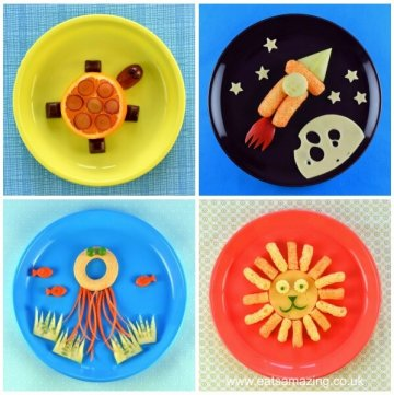 4 Fun and Healthy Easy Food Art Plates for Toddlers