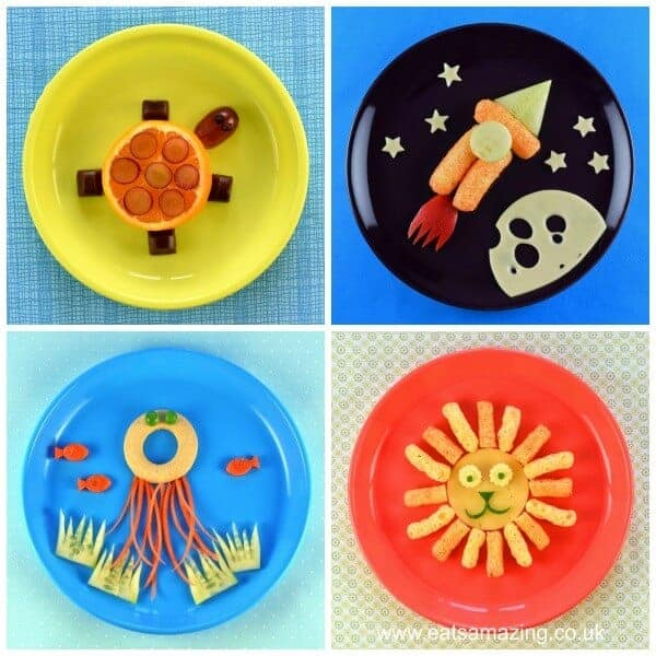 4 Fun and easy healthy food art plates for kids with step by step instructions - Eats Amazing UK