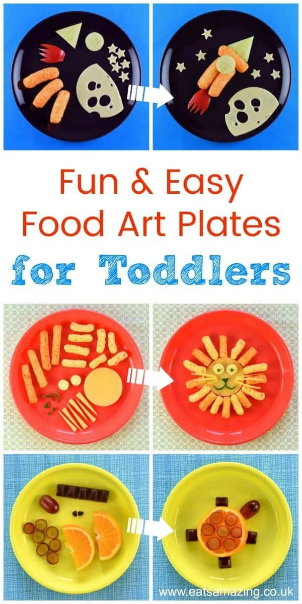 4 Fun and easy healthy food art plates for toddlers with step by step instructions - Eats Amazing UK #funfood #toddler #toddlerfood #foodart #edibleart #kidsfood #babyledweaning #blw #snacks #healthykids #organicfood #cutefood