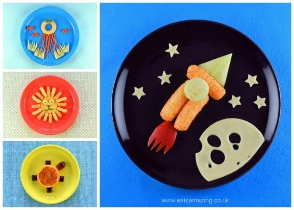 4 Fun easy and healthy food art plates for toddlers with step by step instructions - Eats Amazing UK
