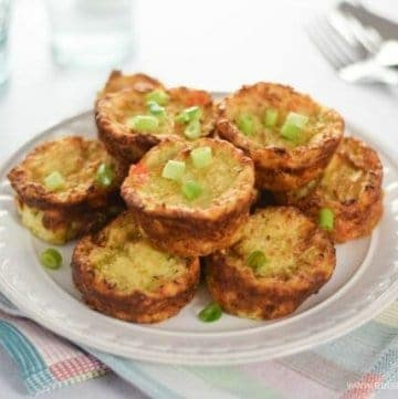 Easy oven baked Bubble and Squeak Muffin Tin Bites recipe - the best way to use up leftover vegetables - Eats Amazing UK