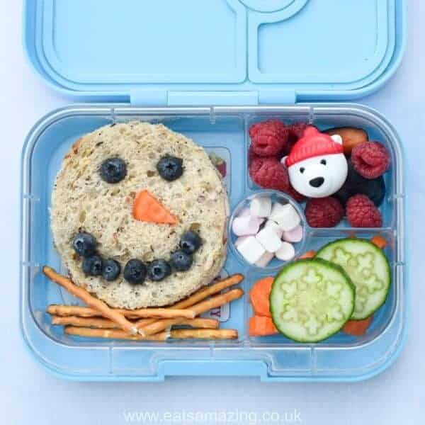 quick and easy snowman lunches eats amazing. Black Bedroom Furniture Sets. Home Design Ideas