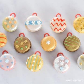 Fun Christmas Food – How to Make Festive Macaron Baubles