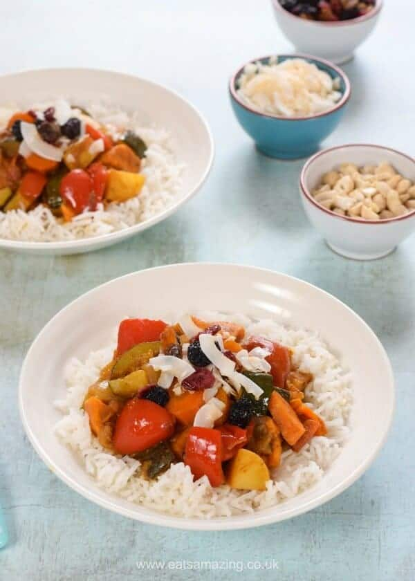 Really easy vegetable curry recipe - child friendly and great for a family meal - Eats Amazing UK