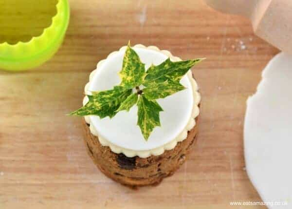 Tin Can Christmas Cakes - how to decorate mini Christmas cakes - 6 fun designs from Eats Amazing UK - Fresh Holly