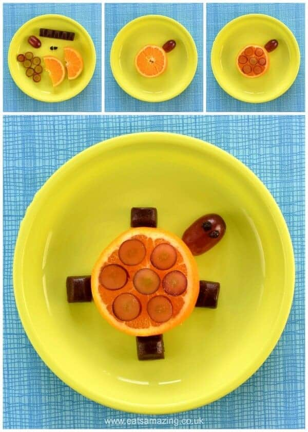 Turtle - 4 Fun and easy healthy food art plates for toddlers with step by step instructions - Eats Amazing UK