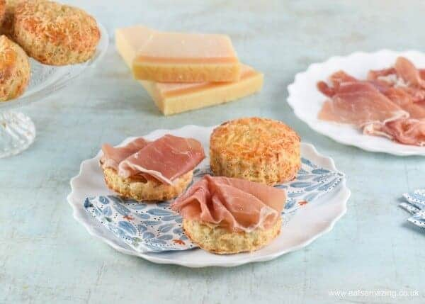 British cheese scones recipe with Grana Padano cheese -family friendly easy recipe from Eats Amazing UK - great for afternoon tea picnics and lunch boxes