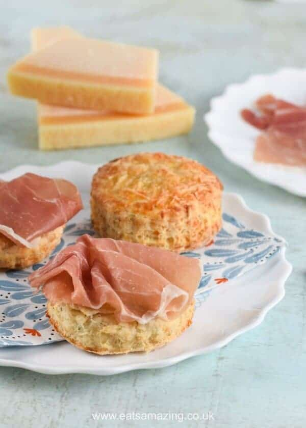 British cheese scones recipe with Grana Padano cheese -kid friendly easy recipe from Eats Amazing UK - great for afternoon tea picnics and lunch boxes