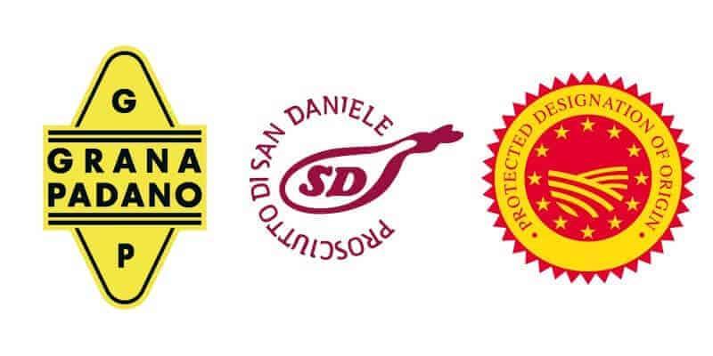 Logos - Grana Padano - Prosciutto di San Daniele - PDO