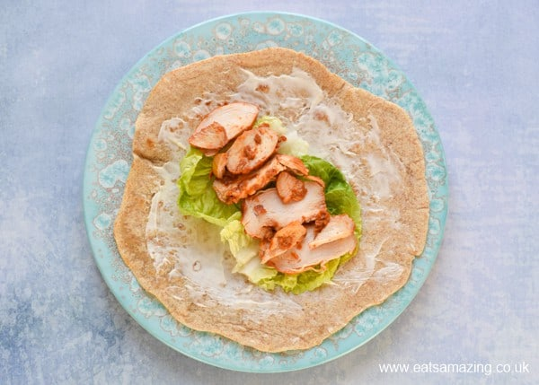 3 tasty tortilla wrap filling ideas for lunches - BBQ chicken salad