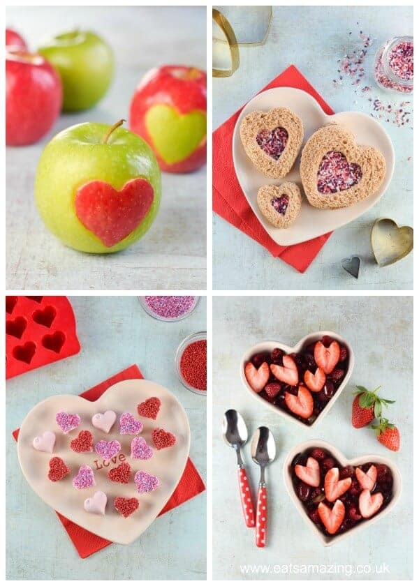 4 cute and easy Valentines Day food ideas for kids - show your love with these heart shaped fun food ideas - Eats Amazing UK
