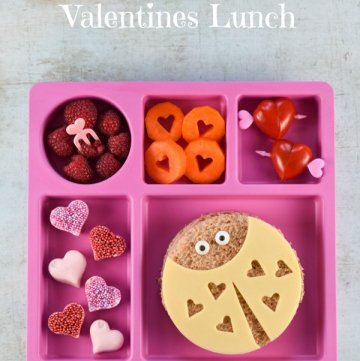 Cute Valentine's Day Themed Lunch Idea for Kids