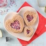 Fairy bread heart sandwiches for Valentines Day with homemade coconut sprinkles - healthy fun Valentines food for kids - Eats Amazing UK