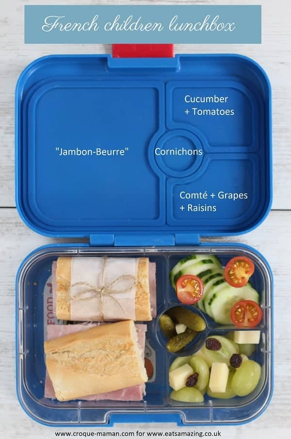 French children lunchbox - Croque-Maman - Inside