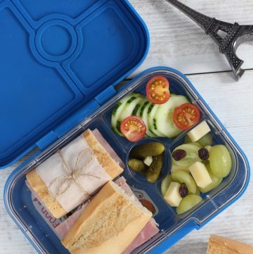 French Style Packed Lunch for Kids