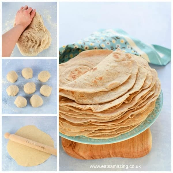 Healty tortilla wraps recipe with step by step photos - Eats Amazing UK