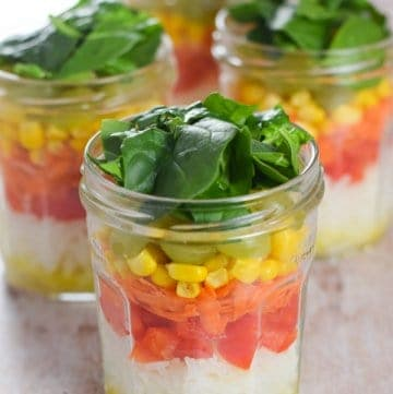 Rainbow Rice Salad Jars Recipe