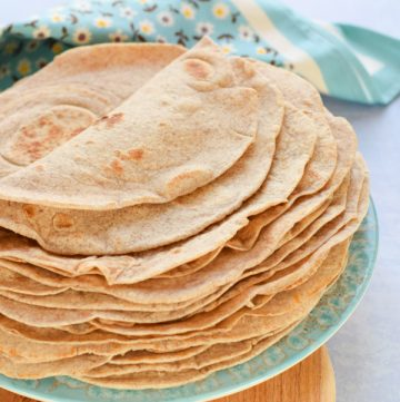 How to make healthy Tortilla Wraps - recipe with coconut oil and wholemeal flour - Eats Amazing UK
