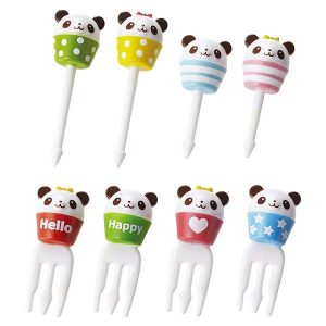Panda Cup Picks and Forks - Set of 8 - Eats Amazing Bento UK Shop