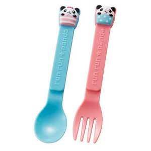 Panda Spoon and Fork - Set of 6 MIxed Colours - Eats Amazing UK Bento Shop