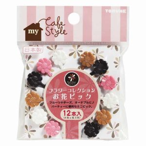 Pink Flower Food Picks - Set of 8 - Eats Amazing UK Bento Shop