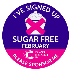 Sugar Free February for Cancer Research UK