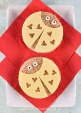 Super cute love bug sandwiches tutorial with step by step photos - fun kids food for Valentines Day - Eats Amazing UK