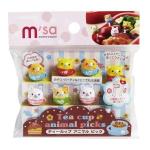 Teacup Animal Bento Picks - Set of 8 from the Eats Amazing Shop