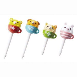 Teacup Animal Food Picks - Set of 8 - Eats Amazing Shop