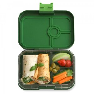 Yumbox Panino Bento Box for Kids UK - Brooklyn Green - example lunch 1