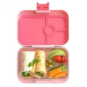 Yumbox Panino Bento Box for Kids UK - Gramercy Pink - example lunch 1