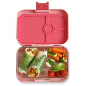 Yumbox Panino Bento Box for Kids UK - Gramercy Pink - example lunch 2