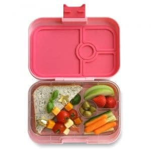 Yumbox Panino Bento Box for Kids UK - Gramercy Pink - example lunch 3