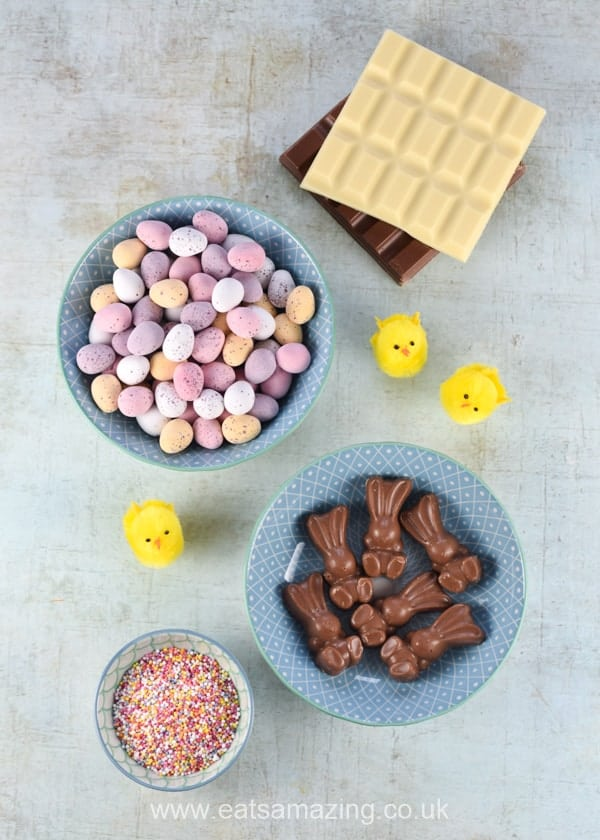 Easy Easter Giant Chocolate Buttons Recipe - Ingredients