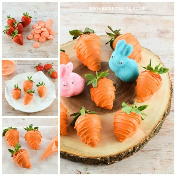 Fun Easter recipe - easy carrot strawberries