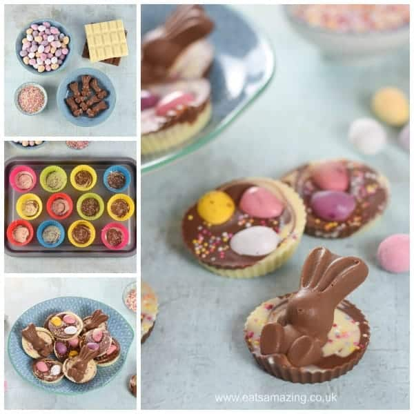 How to make Easter Giant Chocolate Buttons - fun and easy gifts kids can make - Eats Amazing UK