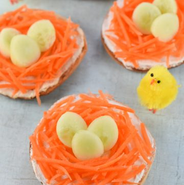 Fun & Healthy Easter Nest Bagels