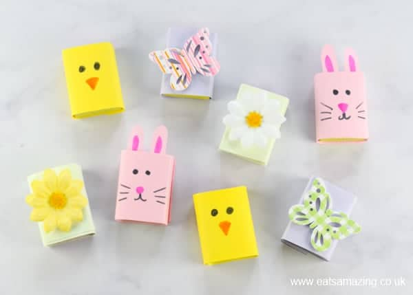 How to make Easter raisin boxes for kids - fun Easter craft - great for Easter baskets - Eats Amazing UK