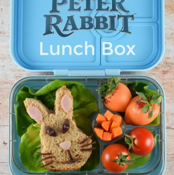 How to make a Peter Rabbit bento box lunch - fun food for kids from Eats Amazing