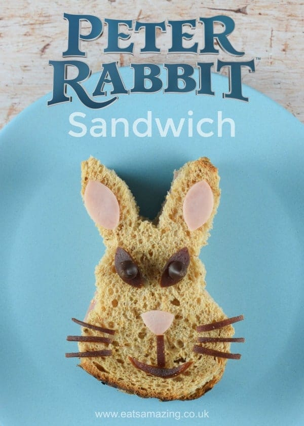 How to make a Peter Rabbit sandwich - fun food for kids from Eats Amazing