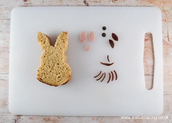 How to make a Peter Rabbit sandwich - fun food tutorial with video from Eats Amazing