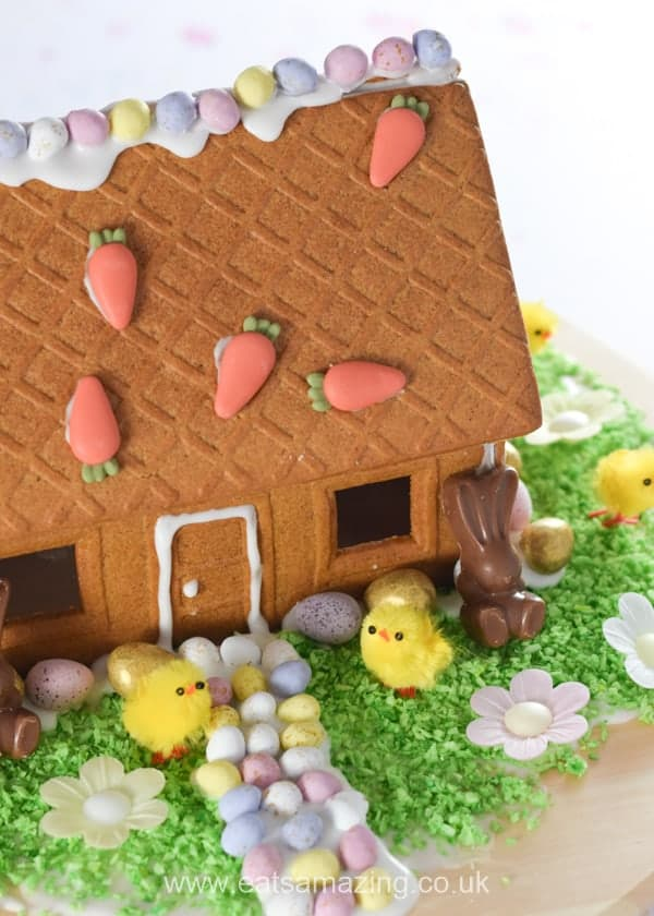 How to make an Easter gingerbread house - fun Easter activity for kids from Eats Amazing UK
