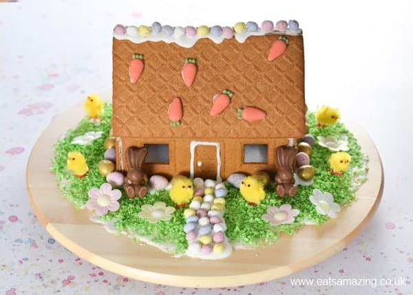 How to make an Easter gingerbread house - fun Easter activity for kids with video tutorial from Eats Amazing UK